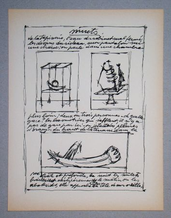 Lithographie Giacometti - Objets mobiles et muets Part II.