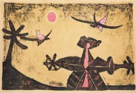 Lithographie Tamayo - Observador de pajaros