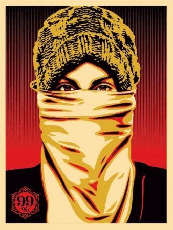 Sérigraphie Fairey - Occupy Protester