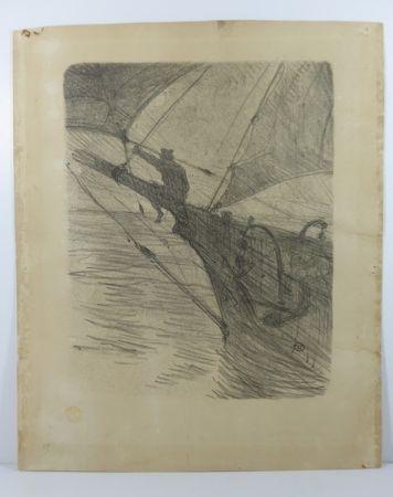 Aucune Technique Toulouse-Lautrec -  Oceano Nox. 1895. 1er état. Numérotée.