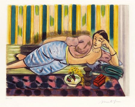 Aquatinte Matisse - Odalisque au Coffret Rouge (Odalisque with Red Box)