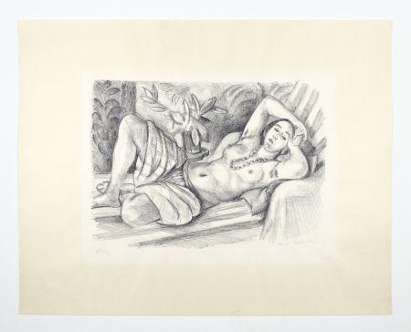 Lithographie Matisse - Odalisque Au Magnolia