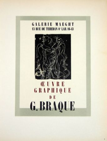 Lithographie Braque - Oeuvre Graphique  Galerie Maeght