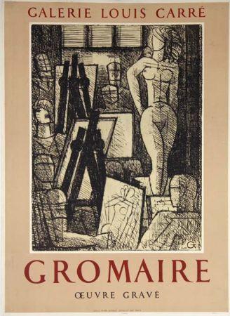 Affiche Gromaire - Oeuvre Gravé Galerie Louis Carré