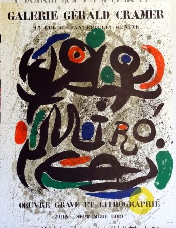 Lithographie Miró - Oeuvre Grave Et Lithographie