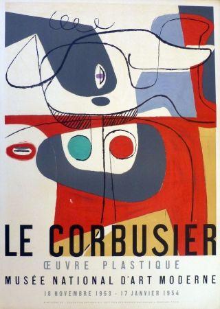 Lithographie Le Corbusier - Oeuvre plaastique, musée national d'art  moderne de la ville de Paris