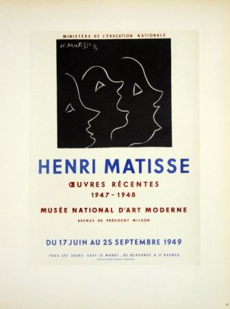 Lithographie Matisse - Oeuvres Recentes Musée D'Art Moderne