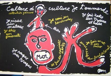 Sérigraphie Vautier - Oh culture