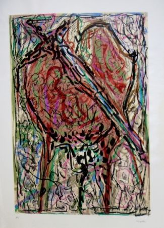 Lithographie Riopelle - Oiseau