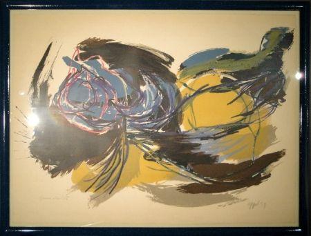 Lithographie Appel - Oiseau de l'aube