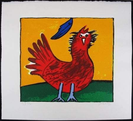 Lithographie Corneille - Oiseau hollandais