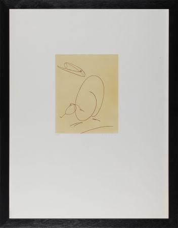 Eau-Forte Ernst - Oiseau mére