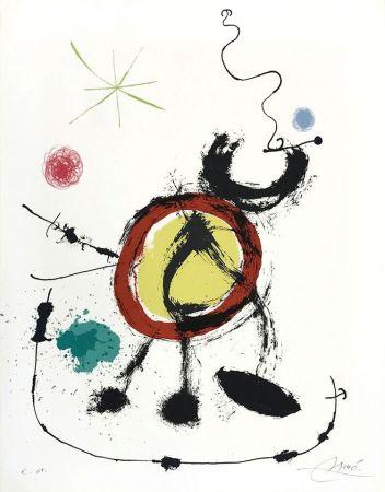 Lithographie Miró - Oiseau migrateur (Migratory Birds)