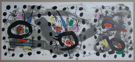 Lithographie Miró - Oiseau solaire, oiseau lunaire, étincelles