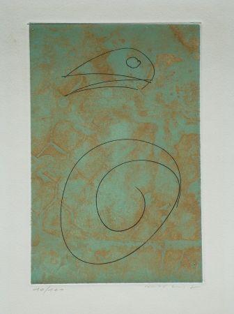 Eau-Forte Et Aquatinte Ernst - Oiseau vert
