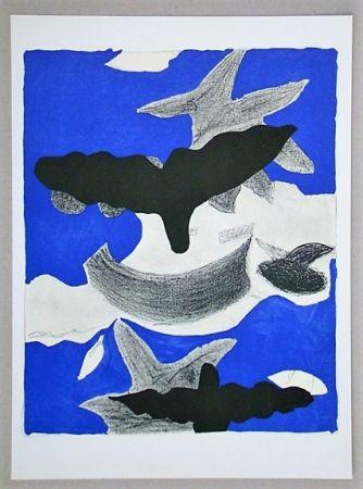 Lithographie Braque (After) - Oiseaux