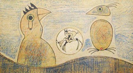Lithographie Ernst - Oiseaux / Birds