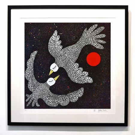 Estampe Numérique Cavalier - ''Oiseaux Célestes ''