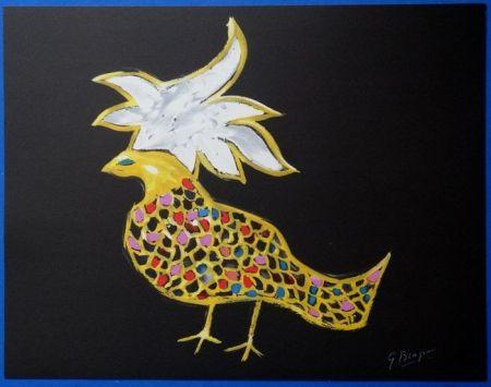 Lithographie Braque - Oiseaux De Feu Phoenix
