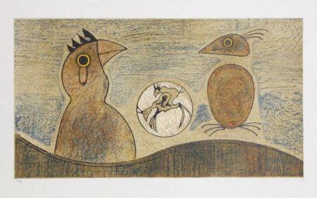 Lithographie Ernst - Oiseaux Souterrains