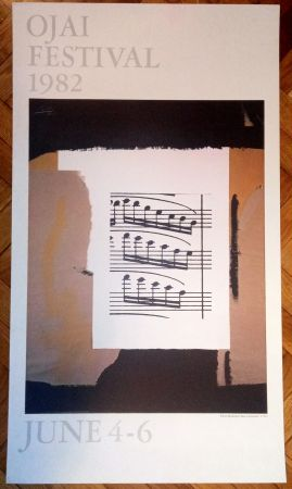 Affiche Motherwell - Ojai festival (poster) , 1982