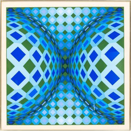 Lithographie Vasarely - OKTA - CHEYT