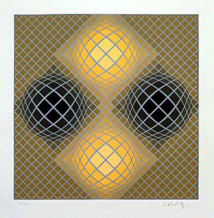 Sérigraphie Vasarely - Olla