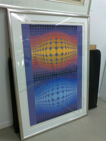 Sérigraphie Vasarely - Oltar Zoeld