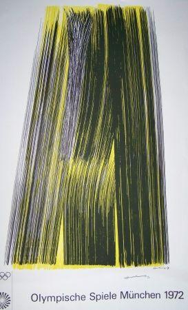 Lithographie Hartung - Olympiische spiele munchen 1972