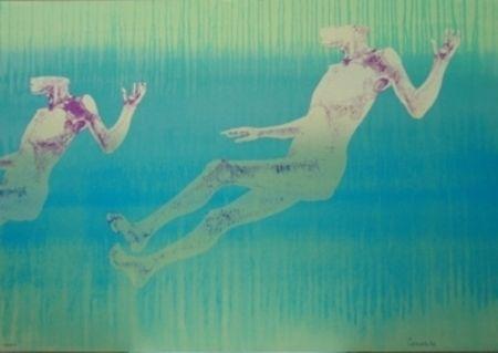Lithographie Cremonini - Olympique 92