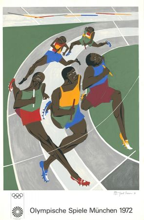 Sérigraphie Lawrence - Olympische Spiele München 1972 (The Runners)