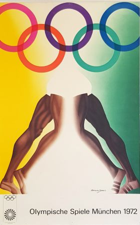 Affiche Jones - Olympishe  Spiele  Munchen  1972