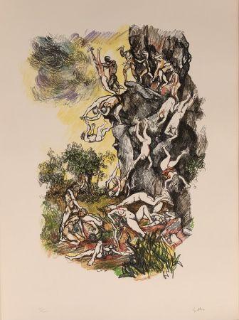 Lithographie Guttuso - Omaggio a Albrecht Durer