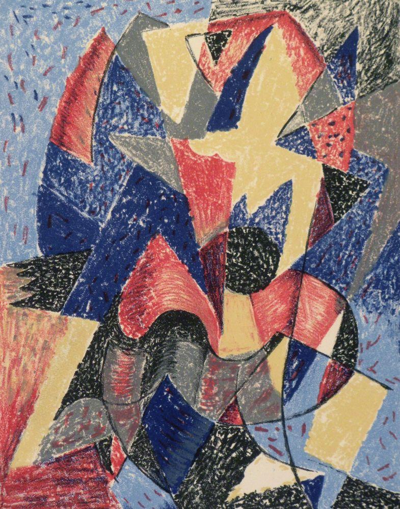 Lithographie Severini - Omaggio a Boccioni