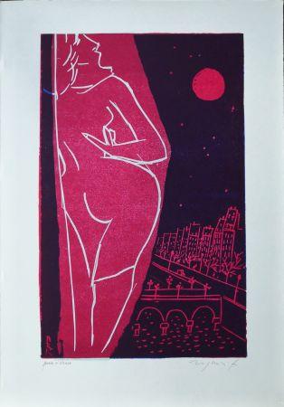 Linogravure Rognoni - Omaggio a Edith Piaf