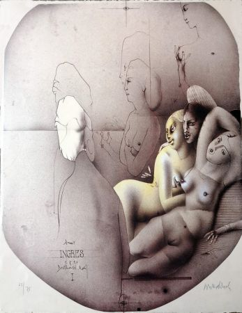 Lithographie Wunderlich - Omaggio a Ingres