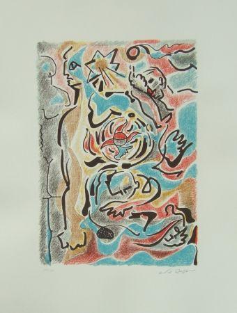 Lithographie Masson - Omaggio a Michelangelo