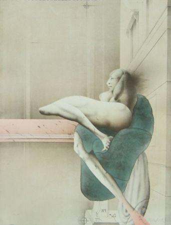 Lithographie Wunderlich - Omaggio a Michelangelo