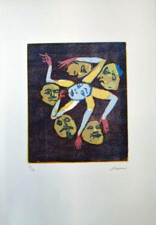 Linogravure Maccari - Omissis XIII