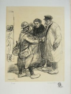 Lithographie Steinlen - On ne s'en fout pas.