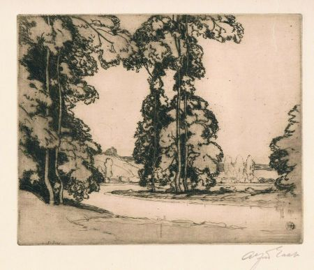Gravure East - On the Banks of the Seine