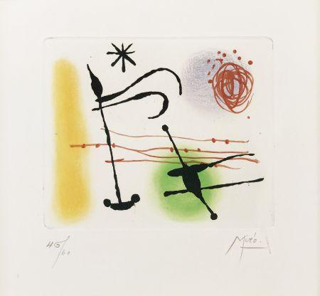 Eau-Forte Et Aquatinte Miró - ONE PLATE (FROM LA BAGUE D'AURORE SUITE)