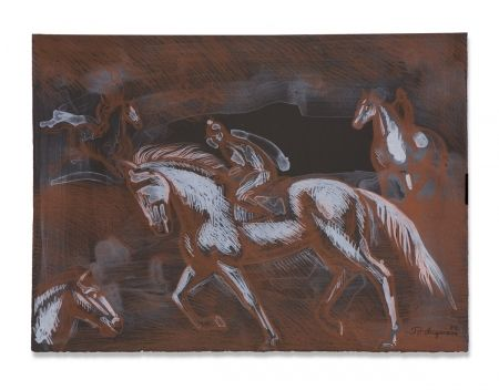 Lithographie Anguiano - Onyx Horses