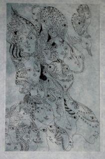 Gravure Zurn - Oracles et spectacles