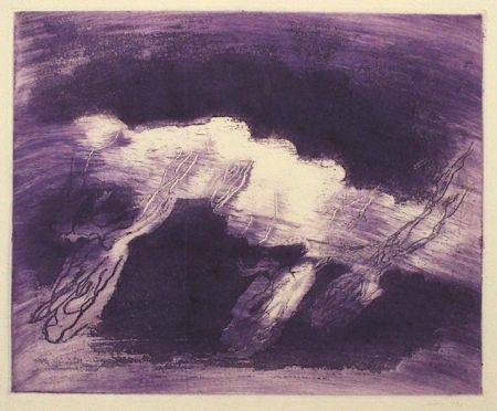 Aquatinte Fautrier - Orage violet