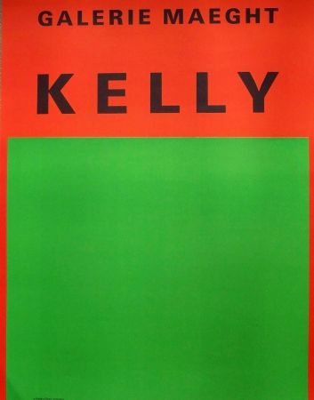 Affiche Kelly - Orange and green abstract