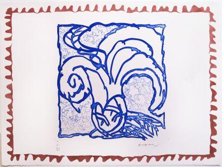 Gravure Alechinsky - Orange de Binche