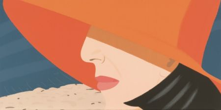 Sérigraphie Katz - Orange Hat (Alex and Ada Suite)