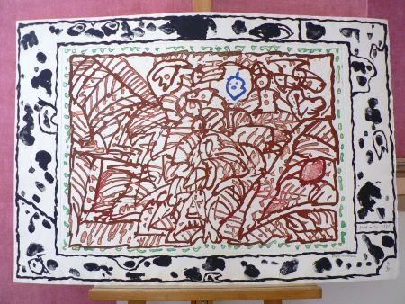 Gravure de pierre alechinsky ordre min ral sur amorosart for Alechinsky oeuvres