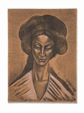 Lithographie Anguiano - Oriental Smile